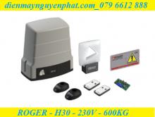 Cổng trượt Roger BH30 - 24V - 600kg - Công Nghệ Không Chổi Than